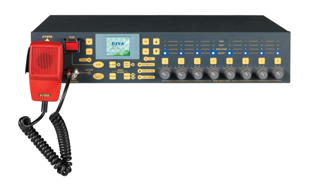 DIVA8MG2 - Compact PA/VA Controller