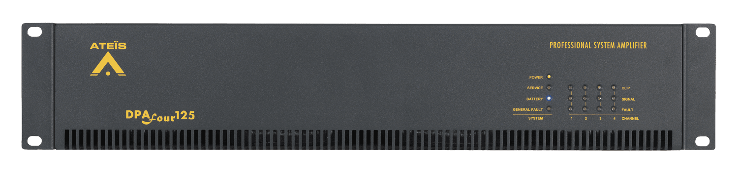 DPAFOUR125 - Quad-channel Class-D amplifier 4 x 125W 100V En54-16