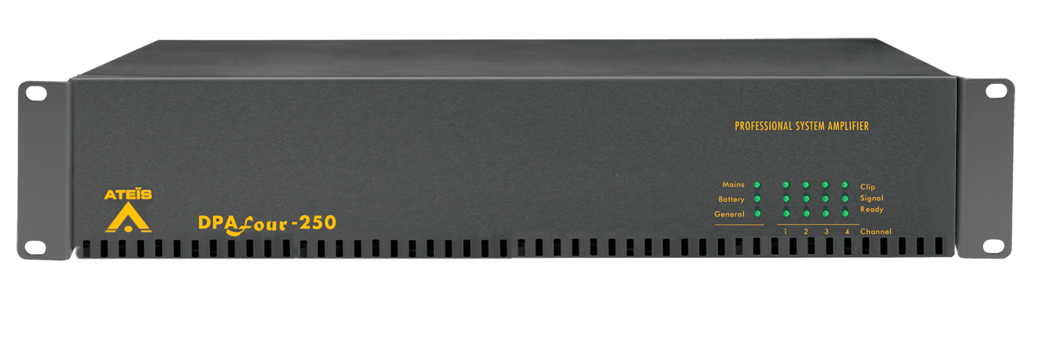 DPAFOUR250 - Quad-channel Class-D amplifier 4 x 250W 100V En54-16