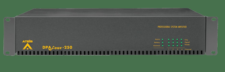 DPAFOUR250 - Quad-channel Class-D amplifier 4 x 250W 100V En54-16
