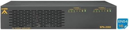 SPA-2060 - Dual-channel Class-AB amplifier 2 x 60W 100V EN 60849