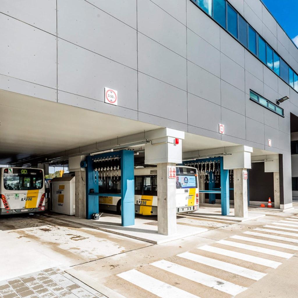 Bus depot De Lijn - Hasselt, Belgium