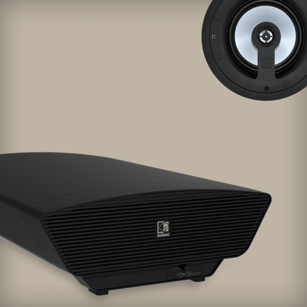 Ceiling speaker solutions with subwoofer -
