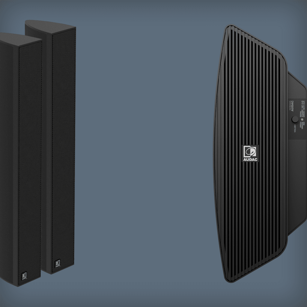 Column speaker solutions with subwoofer
