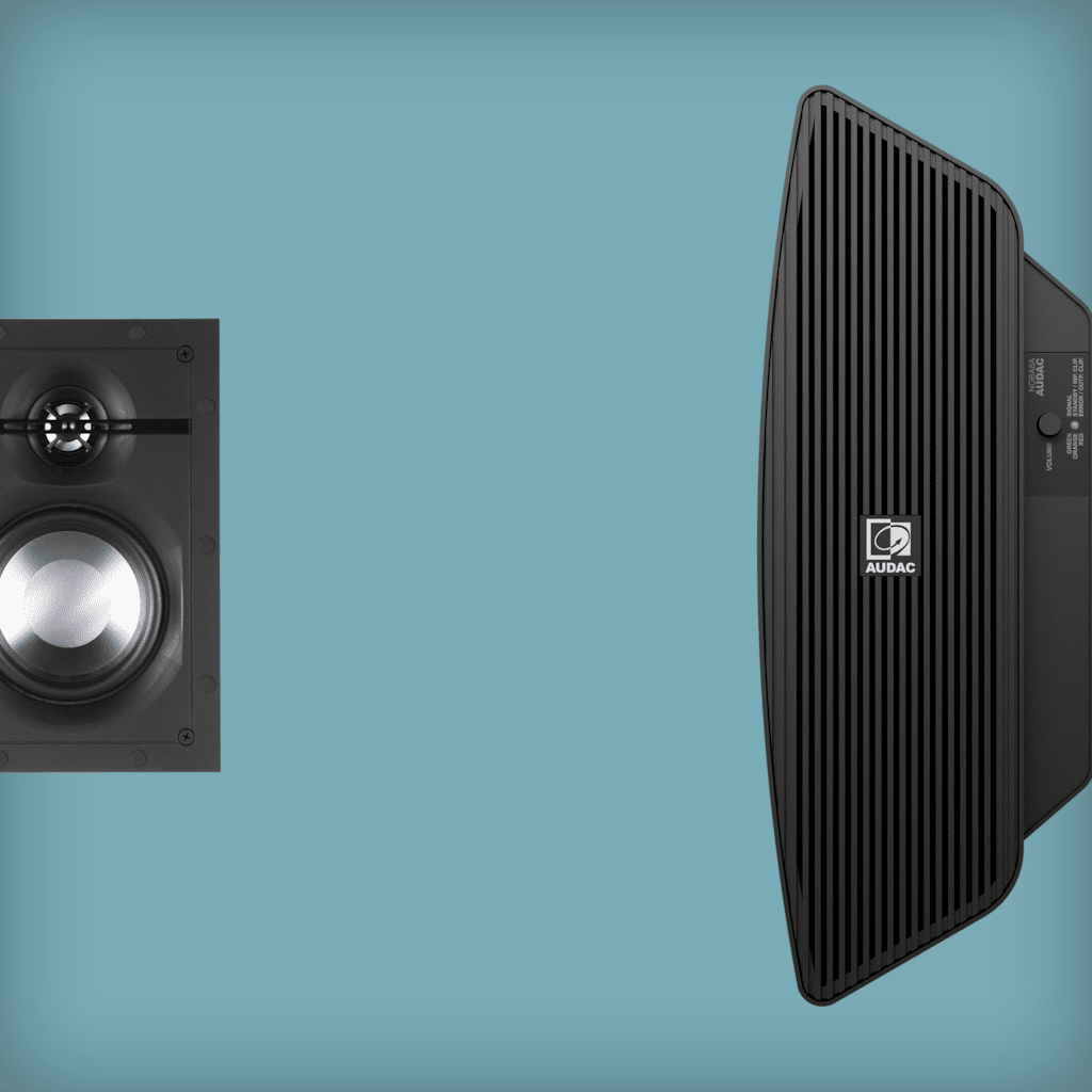 In wall speaker solutions with subwoofer