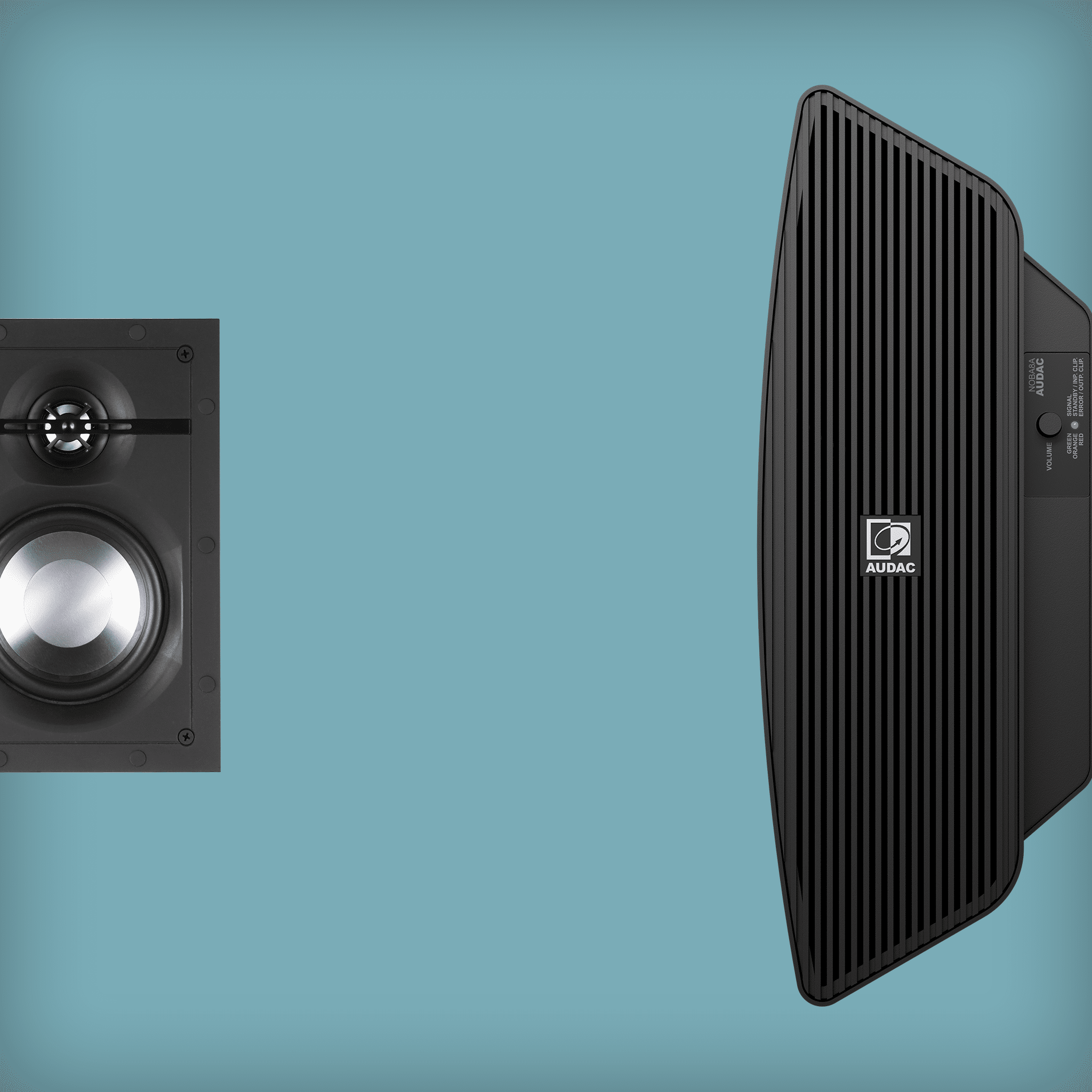 In wall speaker solutions with subwoofer -