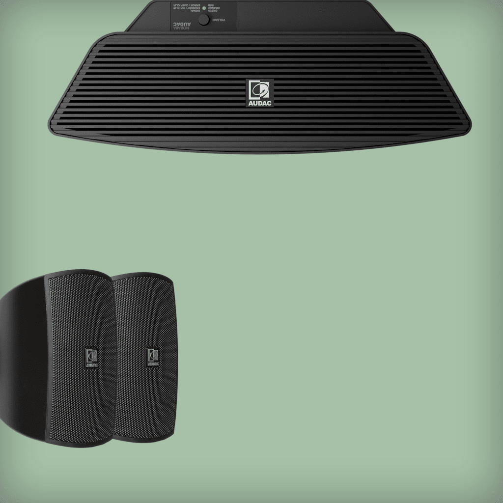 Compact speaker solutions with subwoofer