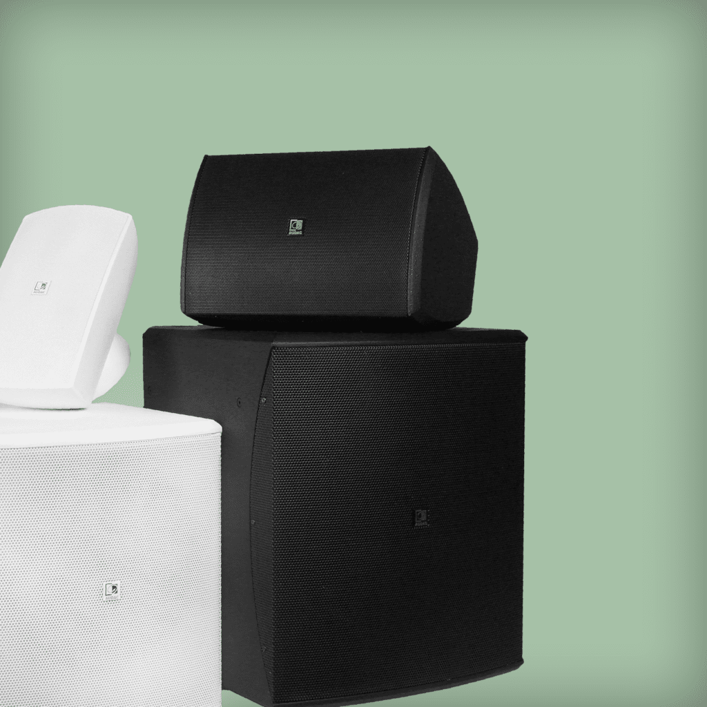 Wall speaker solutions with subwoofer