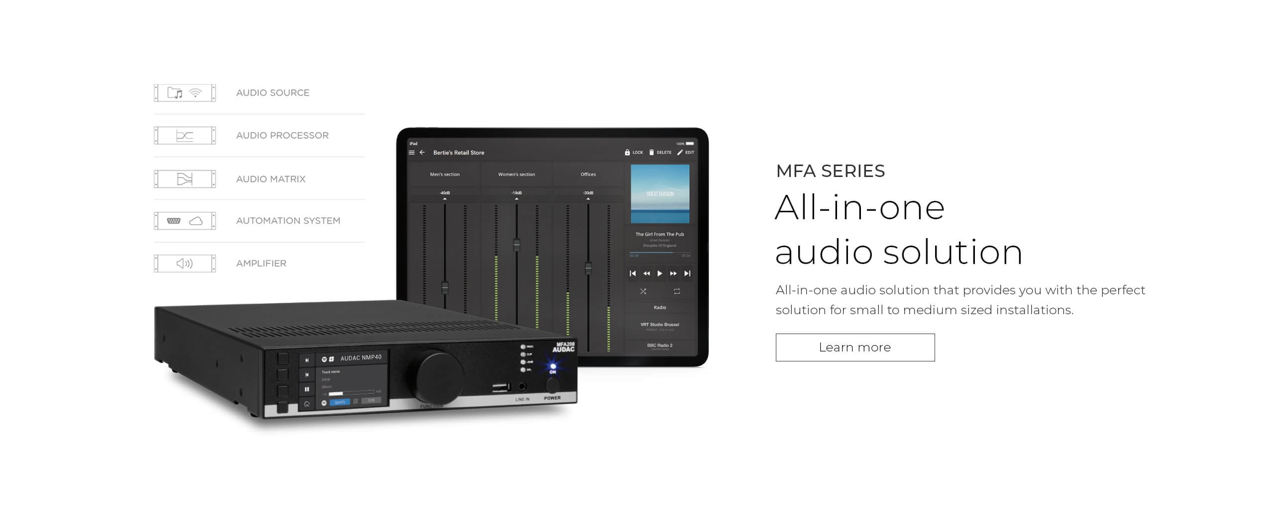 MFA series - All-in-one audio solution