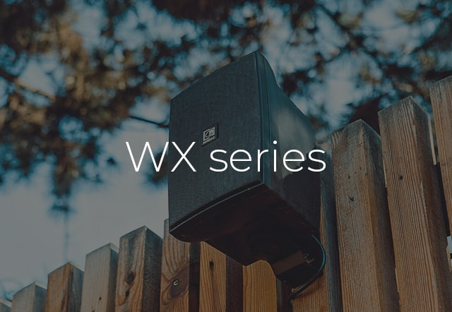 Discover the WX series universal wall loudspeakers