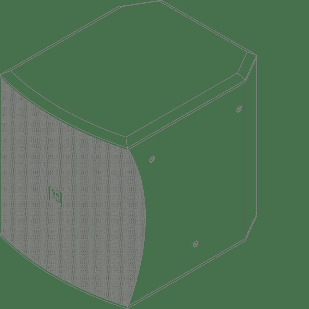"BASO12 - Compact 12"" bass reflex cabinet"