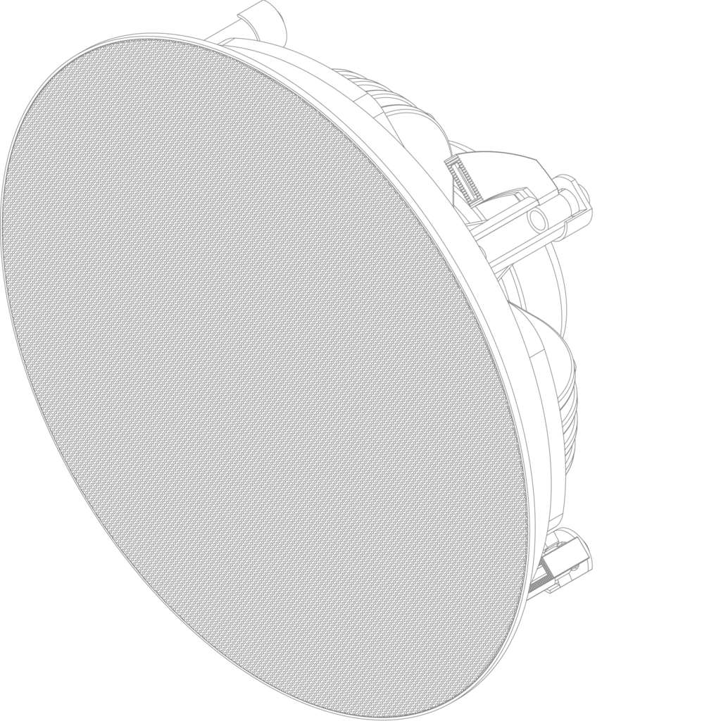 "CELO8 - High-end 2-way 8"" ceiling speaker"
