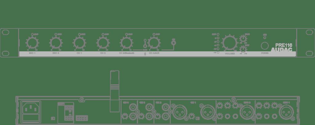 PRE116 - 6 Channel stereo preamplifier