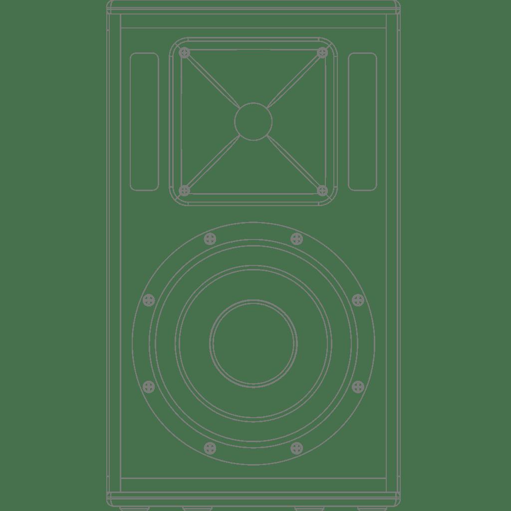 """PX110 - High-power speaker 10"""""""
