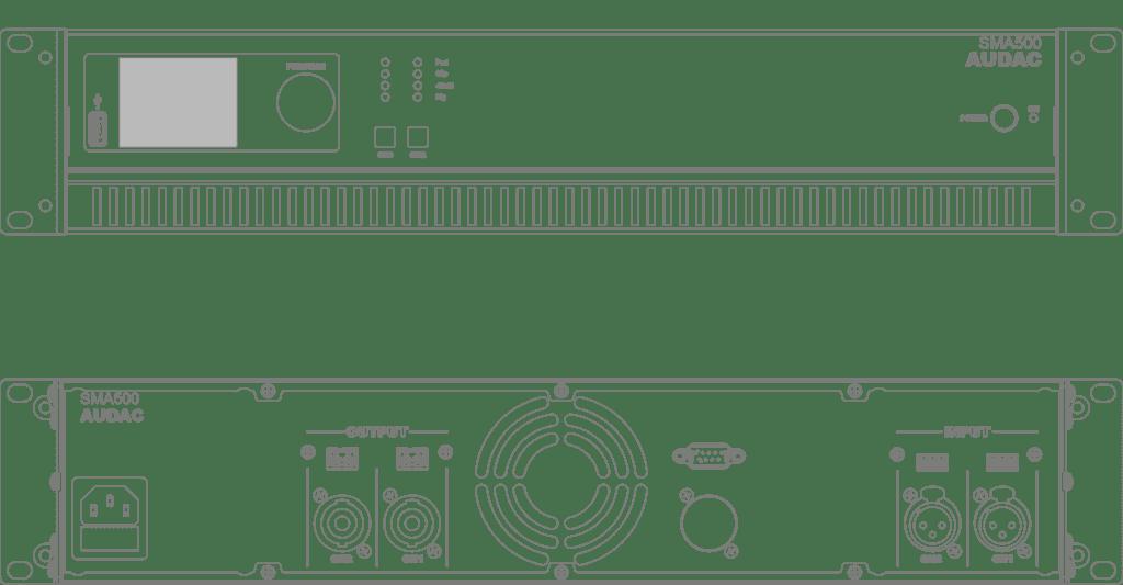 SMA500 - WaveDynamics™ dual-channel power amplifier 2 x 500W