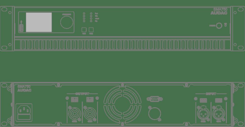 SMA750 - WaveDynamics™ dual-channel power amplifier 2 x 750W