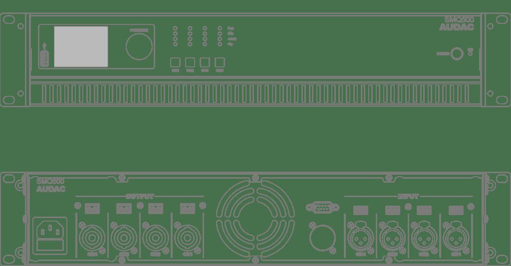 SMQ500 - WaveDynamics™ quad-channel power amplifier 4 x 500W