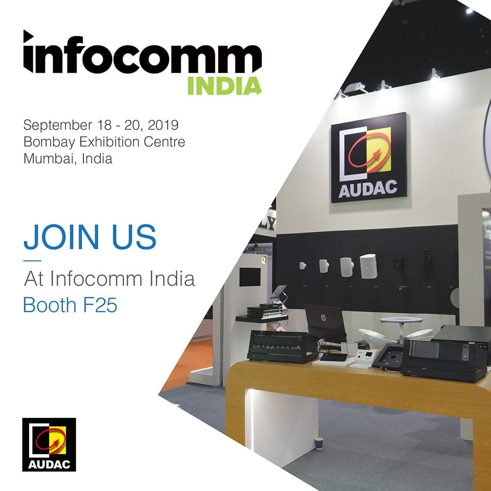 Visit AUDAC at InfoComm India 2019 -