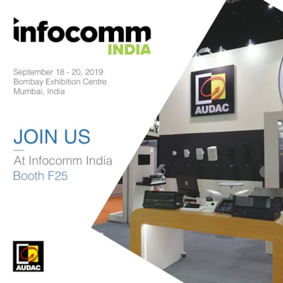 Visit AUDAC at InfoComm India 2019