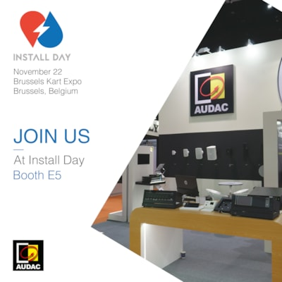 Visit AUDAC at Install day