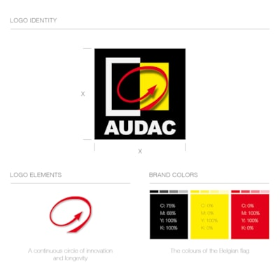 The AUDAC logo: a symbol for our Belgian identity