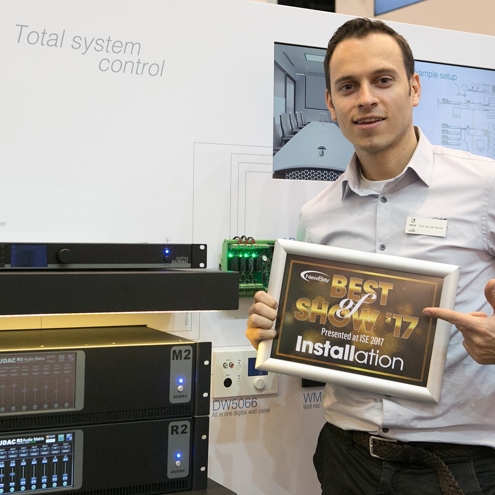 AUDAC Touch™ won the Best of show award -