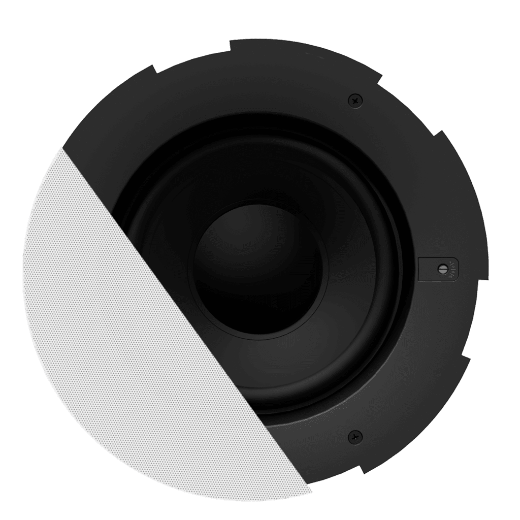 "CALI880S - Safelatch™ 8"" ceiling subwoofer with Twist-Fix™ grill"