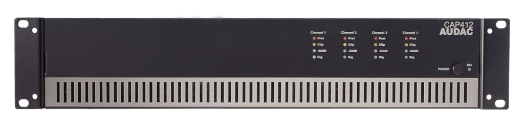 CAP412 - Quad-channel power amplifier 4 x 120W 100V