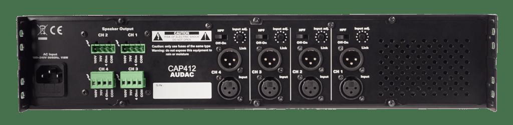 CAP412 - Quad-channel power amplifier 4 x 120W 100V