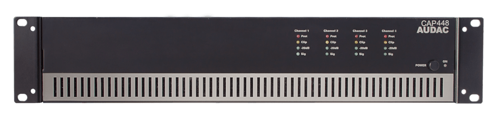 CAP448 - Quad-channel power amplifier 4 x 480W 100V
