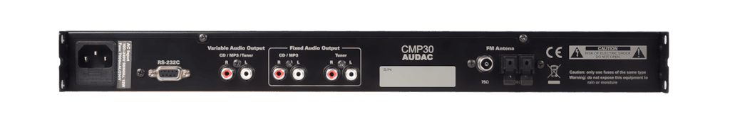 CMP30 - All-in one digital audio player - CD, MP3 & tuner