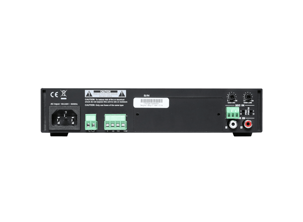 COM108 - Public Address Amplifier 80W 100V
