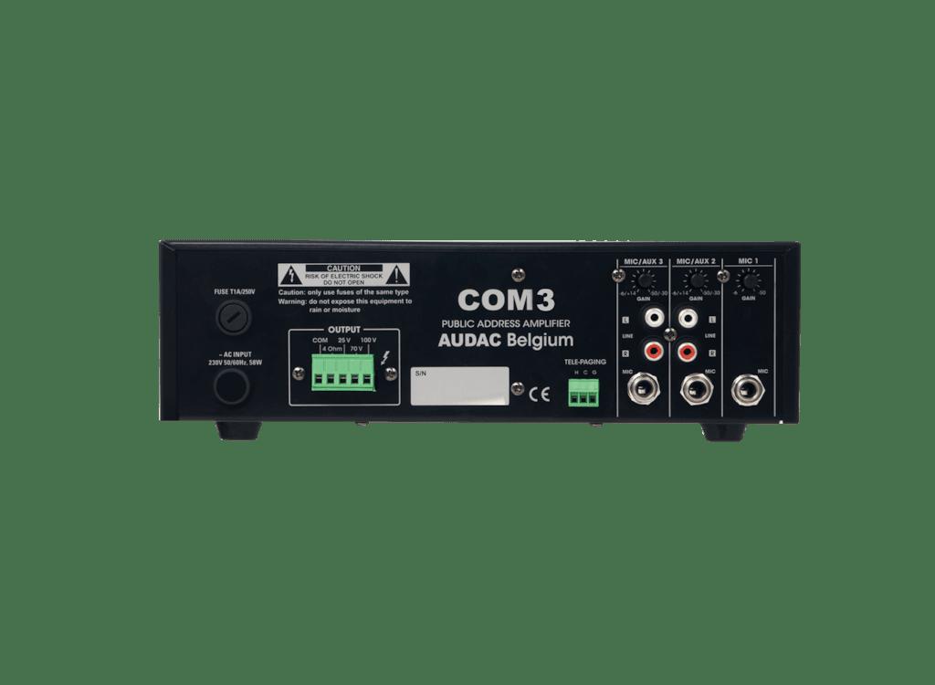 COM3 - Public address amplifier 30W 100V