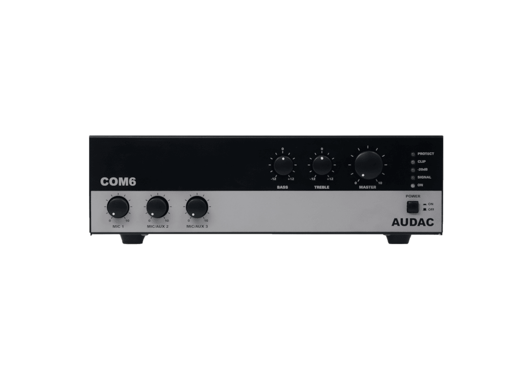 COM6 - Public address amplifier 60W 100V