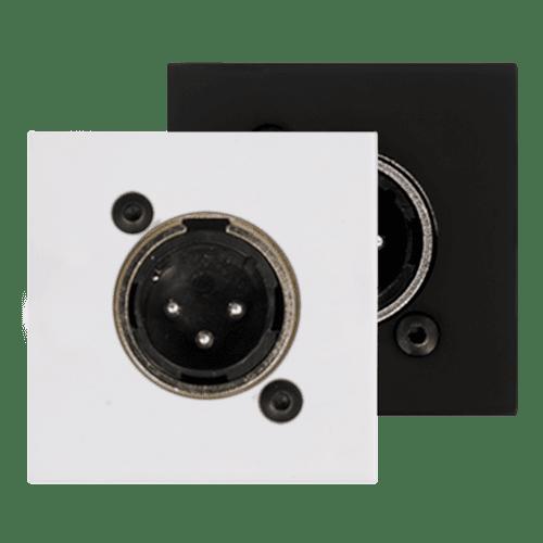 CP45XLM - Connection plate XLR male 45 x 45 mm
