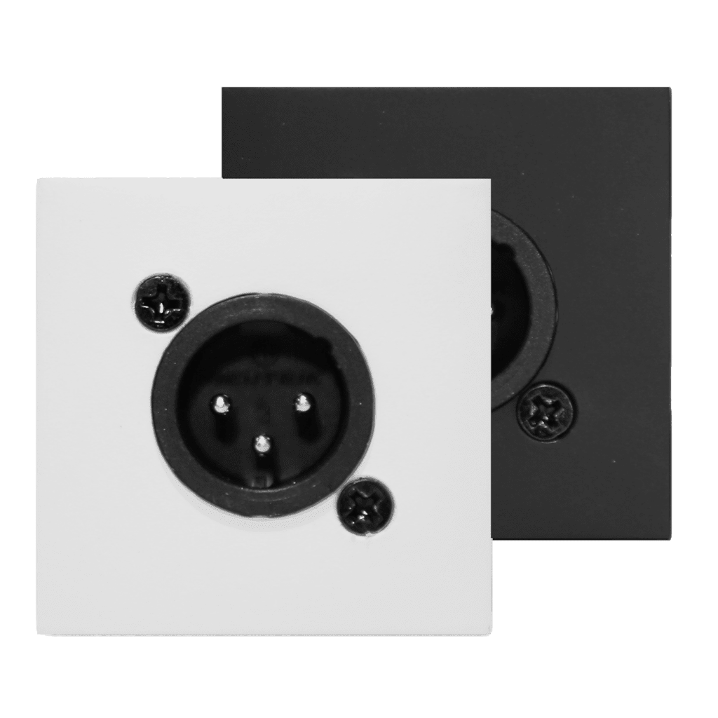 CP45XLMS - Connection plate XLR male 45 X 45 mm - solderless
