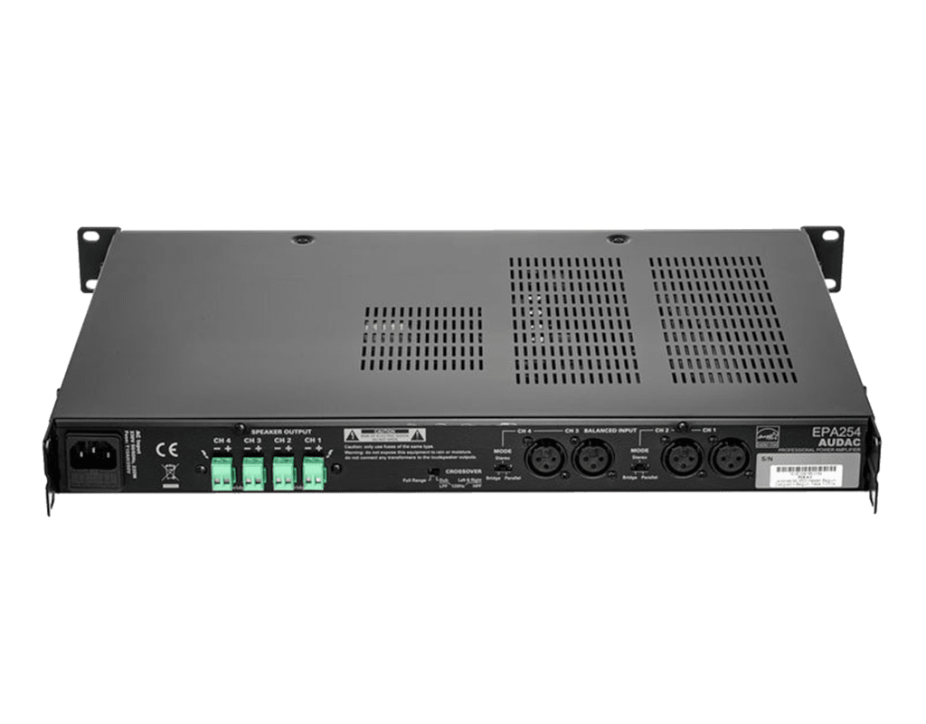 EPA254 - Quad-channel Class-D amplifier 4 x 250W - crossover