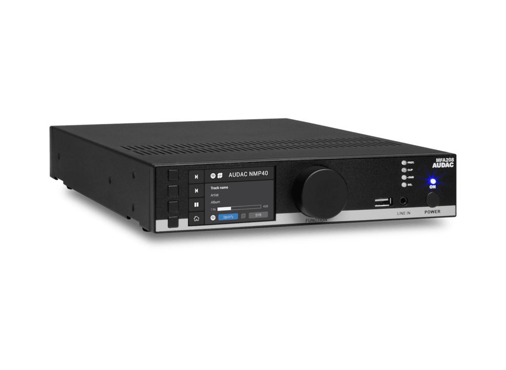 MFA208 - Multi-functional SourceCon™ Amplifier 2 x 40W @ 4 Ohm - 80W @ 70/100V