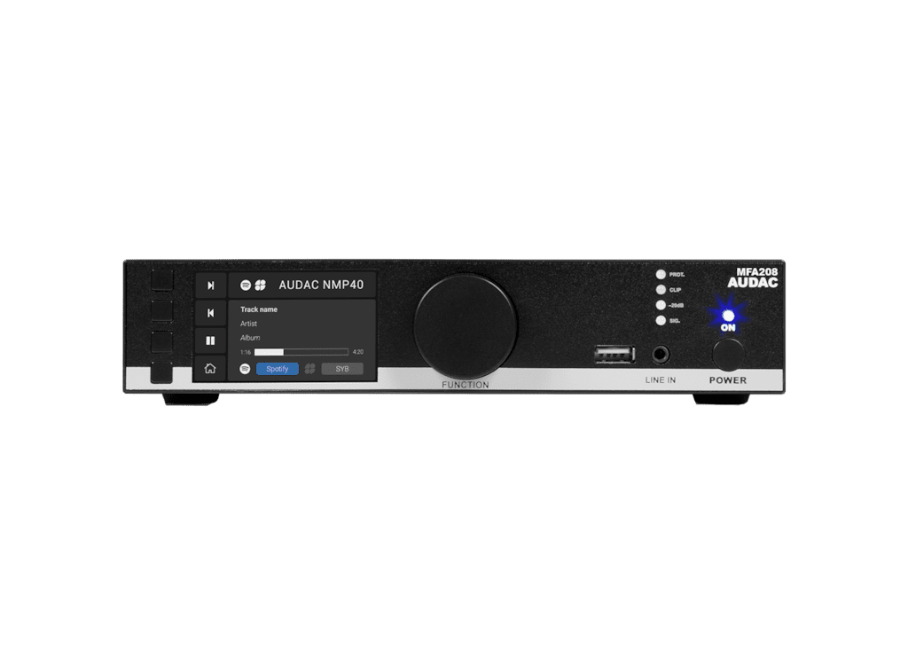 MFA208 - All-in-one audio solution - 2 x 40W @ 4 Ohm - 80W @ 70/100V