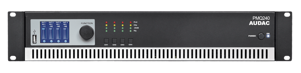 PMQ240 - WaveDynamics™ quad-channel 100V power amplifier