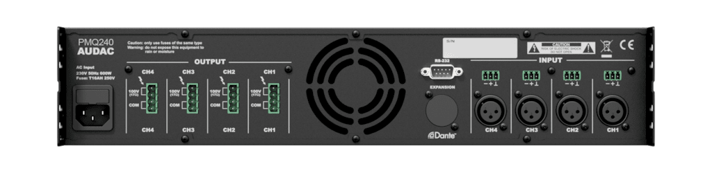 PMQ240 - WaveDynamics™ quad-channel 100V power amplifier