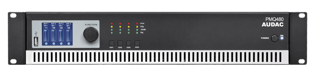 PMQ480 - WaveDynamics™ quad-channel 100V power amplifier