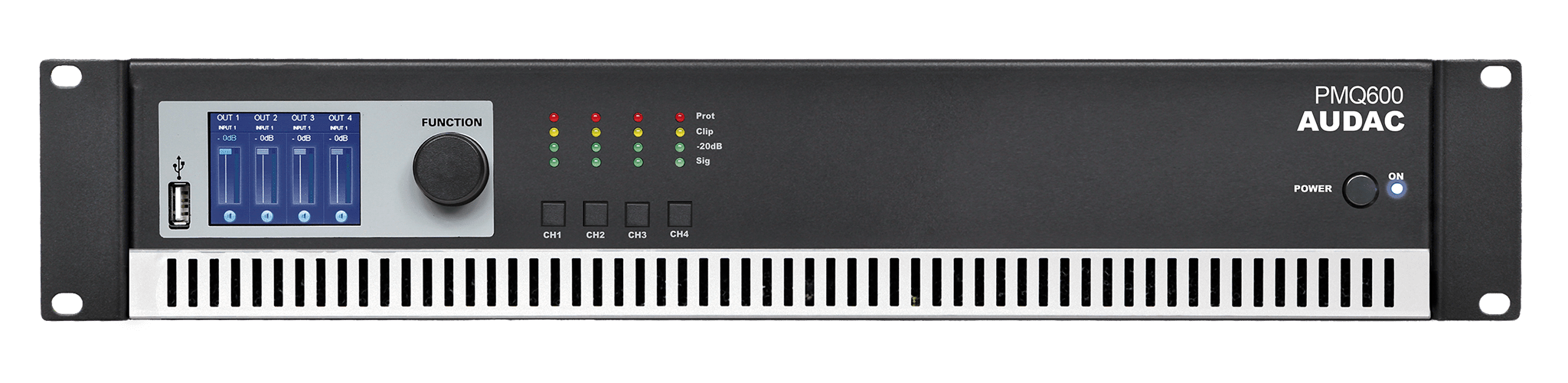 PMQ600 - WaveDynamics™ quad-channel 100V power amplifier