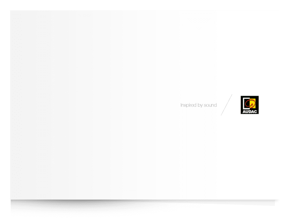 PROMO5207 - AUDAC Brand brochure