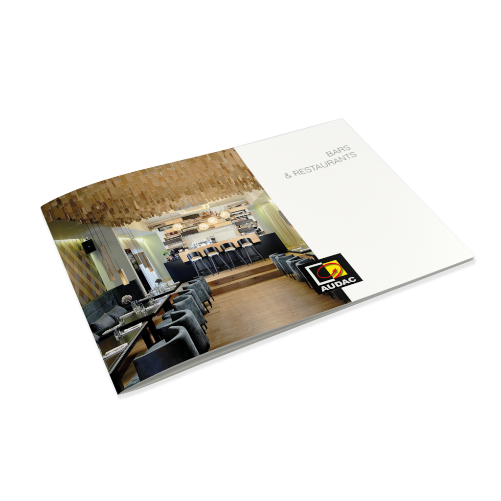 PROMO5210 - AUDAC References - Bars and Restaurants brochure