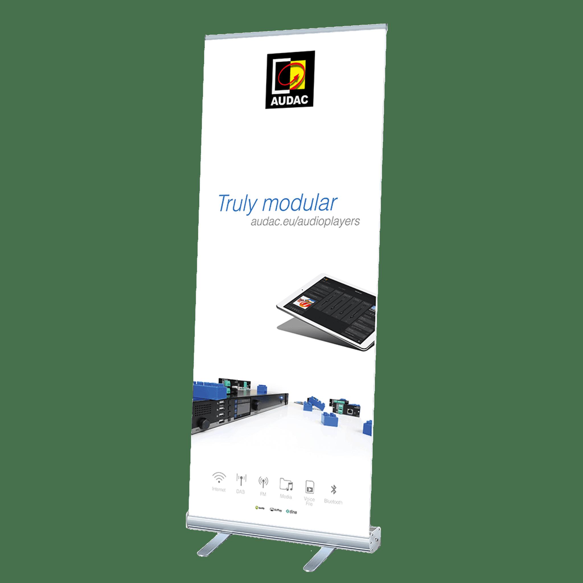 PROMO5300 - AUDAC audioplayers roll-up display