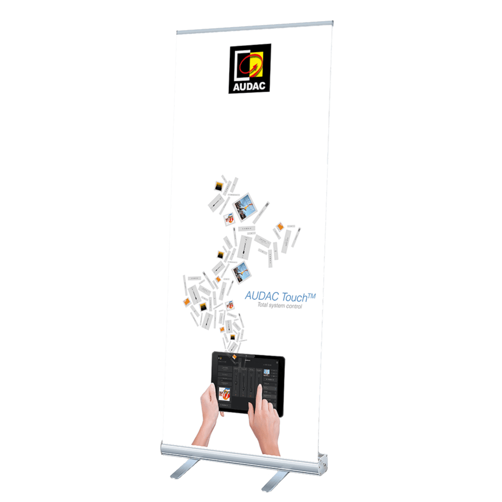 PROMO5301 - AUDAC Touch™ roll-up display