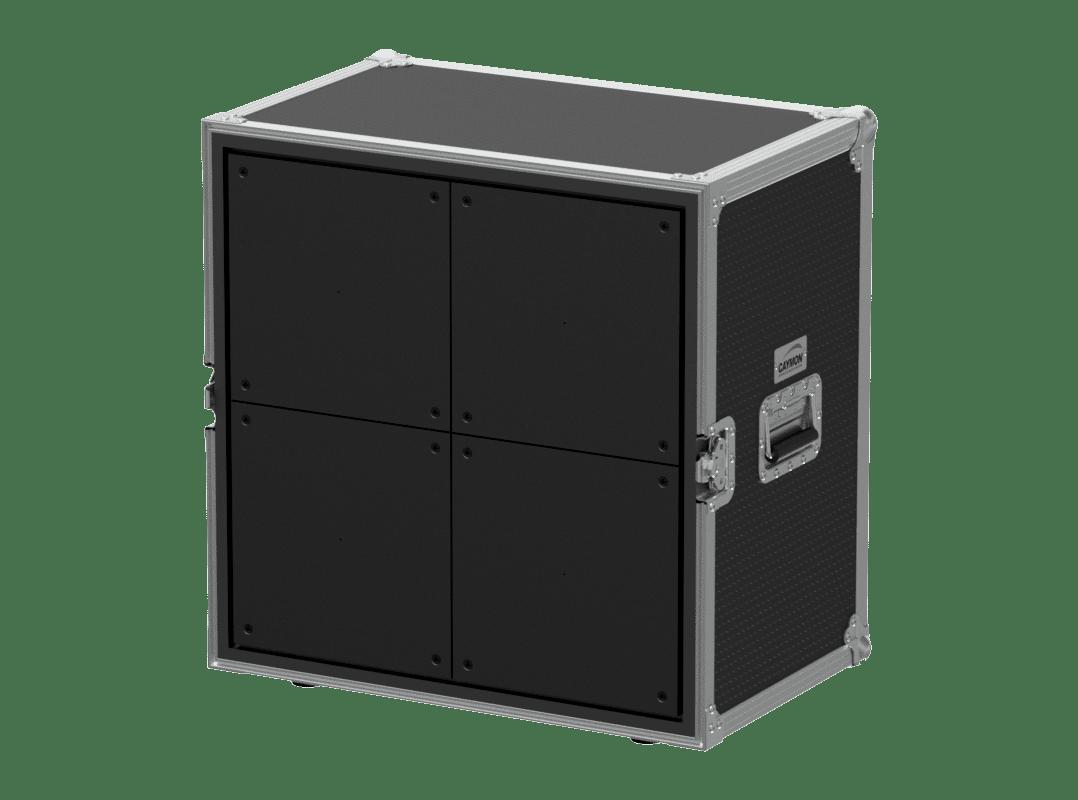 PROMO5321 - Demo flightcase for 4 x ceiling/in-wall loudspeakers