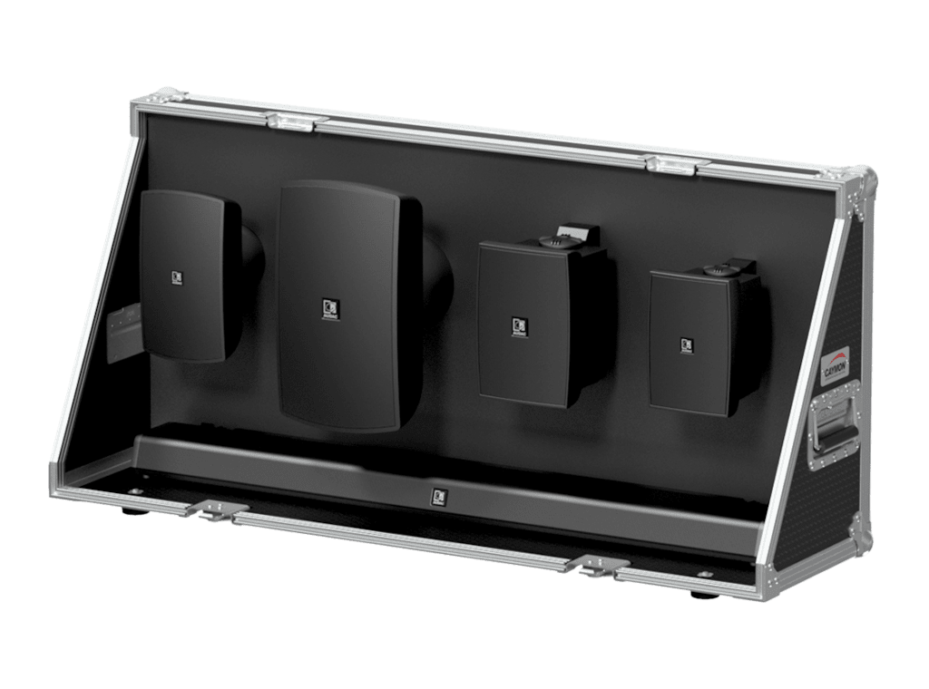 PROMO5322 - Demo flightcase for surface mount loudspeakers