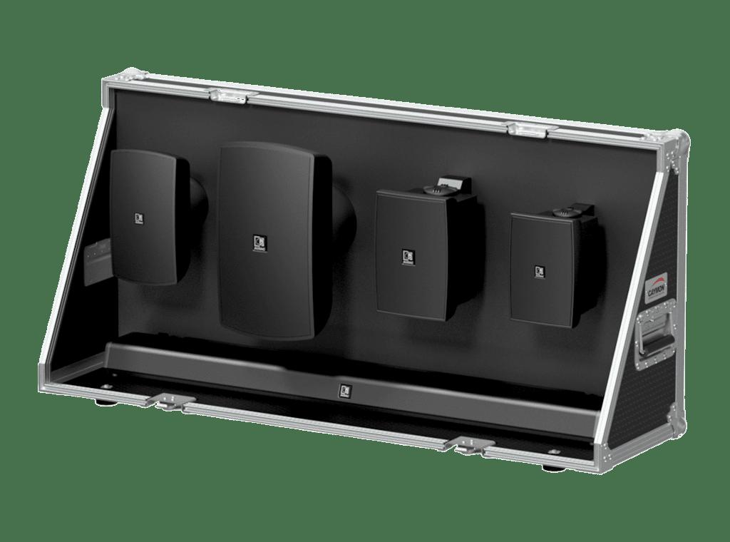 PROMO5322 - Demo flightcase for surface mount loudspeakers